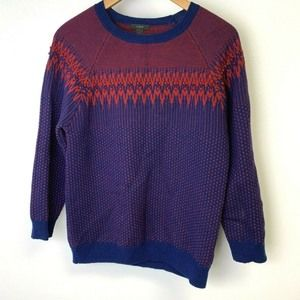 J. Crew Womens Large Merino Wool Fail Isle Sweater